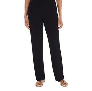 3 pair of black Chicos travlers relaxed slacks